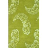Floral Light Green Rug