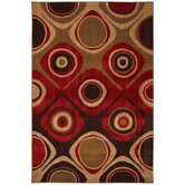 Select Kaleidoscope Danger Zone Red Rug