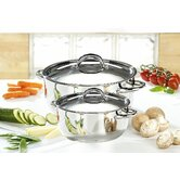 2 Piece Classic Casserole Set in Stainless Steel