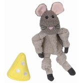 Quiet Mouse and Squeaky Cheese Plush Dog Toy (Set of 2)
