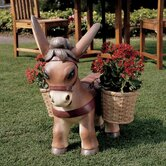 Pancho the Burro Planter Sculpture