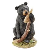Black Honey the Curious Bear Cub Statue