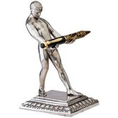 Art Deco Strongman Pen Holder Sculpture
