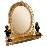 King Amenhotep Egyptian Statue Vanity Mirror