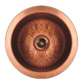 Copperhaus Large Round Drop-In Bar Sink