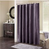 Tradewinds Polyester Shower Curtain in Plum