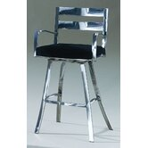 Director Contemporary Swivel Barstool with Arms