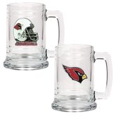 NFL 15oz. Glass Tankard with Helmet Logo (Set of 2)