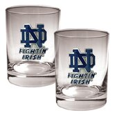 NCAA 2 Pieces Rocks Glass Set