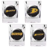 NHL Square Shot Glass 4 Piece Set (Individual Logos)