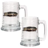 NHL 15oz Glass Tankard 2 Piece Set - Primary Logo