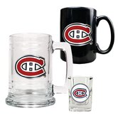 NHL 15oz Tankard, 15oz Ceramic Mug and 2oz Shot Glass Set - Primary Logo
