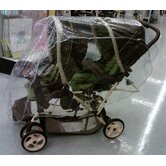 Tandem (Front and Back) Stroller Rain and WeatherBug Cover