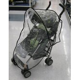 Twin Handle Single Stroller Rain and WeatherBug Cover