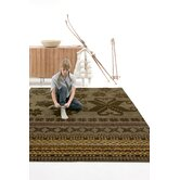 Folk Green Rug