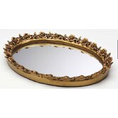Antique Oval Resin Mirror Tray