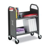 TechMark 2-Shelf Book and Utility Cart in Anthracite