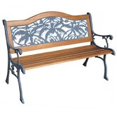 Palm Springs Wood and Cast Iron Park Bench