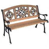 Florence Wood and Cast Iron Park Bench