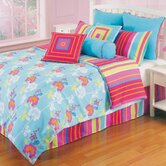 Pop Radiance Funky Flower Comforter Set in Aqua