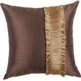 St. Lucia Pillow with Brush Fringe and Braid