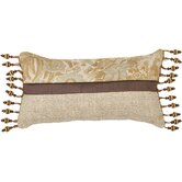 St. Lucia Pillow with Ball Tassel Trim