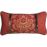 Bacara Pillow with Self Cord - Red Velvet and Gold