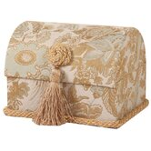 St. Lucia Envelope Chest with Button Knot, Tassel and Cord, Lined