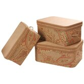 Alamosa Largest Storage Boxes with Handles, Braid and Cord ( Set of 3 )
