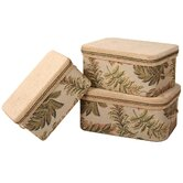 Woodland Storage Box with Handles and Braid and Cord (Set of 3)