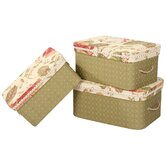 Brianza Storage Box with Handles and Braid and Cord Set of 3