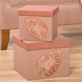 Milano Square Applique Boxes (Set of 2)