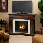 "Rutherford 47"" Ventless TV Stand with Gel Fireplace"