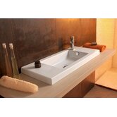 Serie 35 Ceramic Bathroom Sink with Overflow