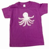 Octopus T Shirt in Purple