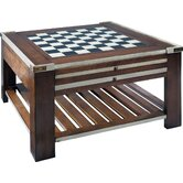 Cherry Game Table with Convertible Top with Ivory Accents