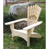 Base Ball Bat Adirondack Chair and Ottoman