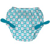 Tie Swim Diaper Cover in Agua Geo Turtle and Daisy