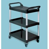 Food Service & Utility Cart with Casters and Aluminum Uprights