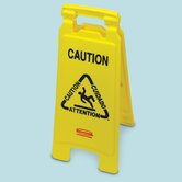 "Floor Safety Sign with ""Caution Wet Floor"" Logo"
