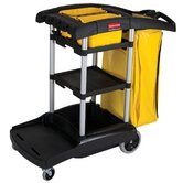 Rubbermaid Commercial - High Capacity Cleaning Carts Black High Capacity Cleaning Cart: 640-9T72 - black high capacity cleaning cart
