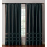 Maddox Faux Silk with Chenille Bands Window Panel