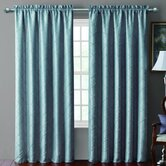 Sable Pintucked Taffeta Rod Pocket Blackout Curtain Single Panel