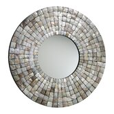 Mosaic Tile Mirror in Capiz Shell