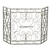 Crawford 3 Panel Iron Fireplace Screen