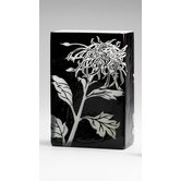 Large Wild Dandelion Vase in Black and White