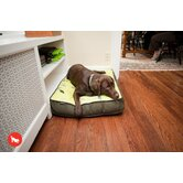 Backyard Greenery Rectangular Dog Bed in Pear / Rifle Green
