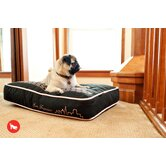 "Cosmopolitan ""SF""yline Rectangular Dog Bed in Ivory Black / Tea Rose"