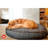 Signature Urban Denim Round Dog Bed in Medieval Blue / Dark Chocolate