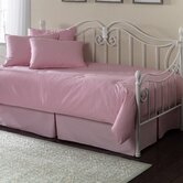 Paramount 5 Piece Twin Daybed Set in Solid Pink